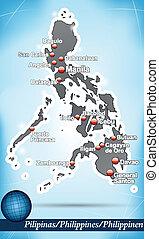 mapa, de, filipinas