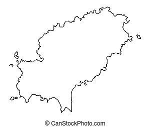 mapa, de, ibiza