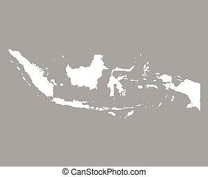 mapa, de, indonesia