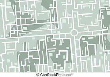 mapa, de, la ciudad