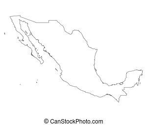 mapa, de, méxico