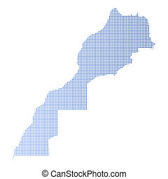 mapa, de, marruecos