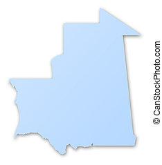 mapa, de, mauritania