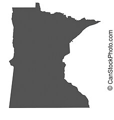 mapa, de, minnesota, -, estados unidos de américa