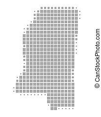 mapa de mississippi