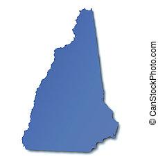 mapa, de, new hampshire, -, estados unidos de américa