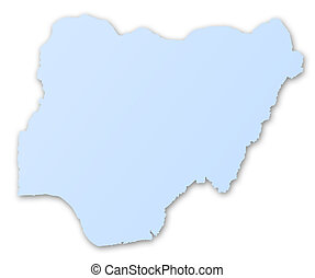 mapa, de, nigeria