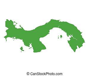 mapa, de, panamá