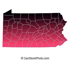 mapa de pennsylvania