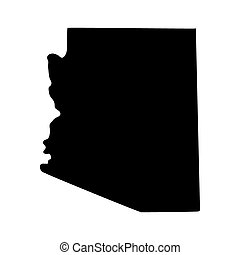 mapa del estado, arizona, u..s..