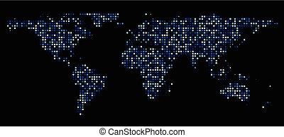 mapa del mundo, compuesto, de, dots.