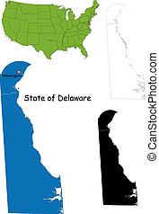 mapa, delaware