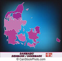 mapa, dinamarca