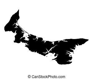 mapa, edward, príncipe, isla