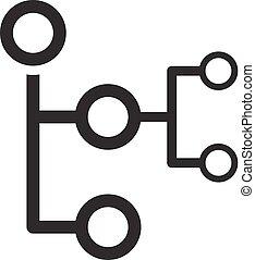 mapa, empresa / negocio, plano, concept., mente, icon.,...