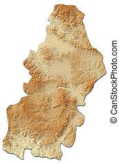 mapa en relieve, -, francisco, morazan, (honduras), -, 3d-rendering