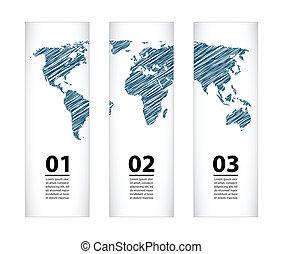 mapa, esboço, bandeira, especiais, desenho