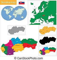 mapa, eslovaquia