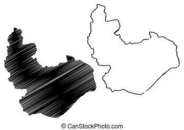 mapa, estado, planalto