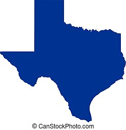 mapa, estado, texas