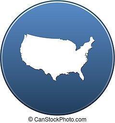mapa, -, estados unidos
