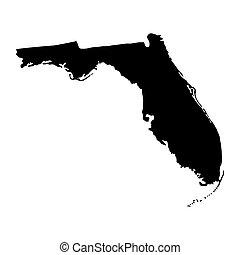 mapa estatal, eua., flórida