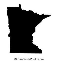 mapa estatal, minnesota, eua.