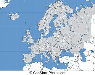 mapa, europeo