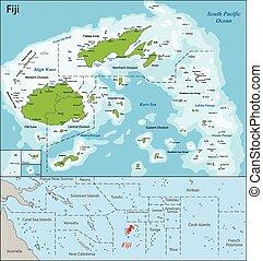 mapa, fiji