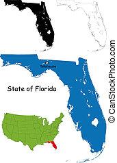 mapa, floryda