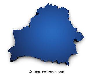 mapa, forma, belarus, 3d