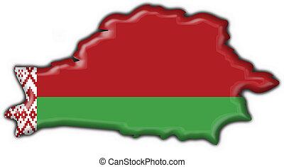 mapa, forma, belorussian, botón, bandera