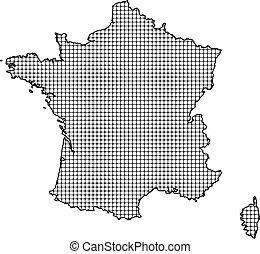 mapa, -, frança