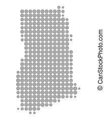 mapa, ghana