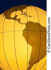 mapa, globo, américa, sul, mundo