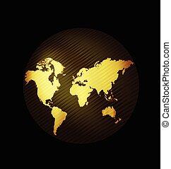 mapa, globo