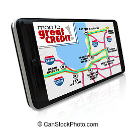mapa, grande, clasificación, smar, credito, raya, navegación...