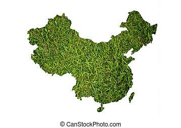 mapa, grass., china, plano de fondo