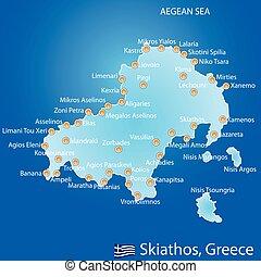mapa, grecia, skiathos, isla