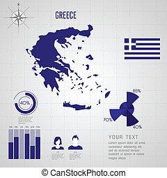 mapa, greece., republika, společnost, flag.