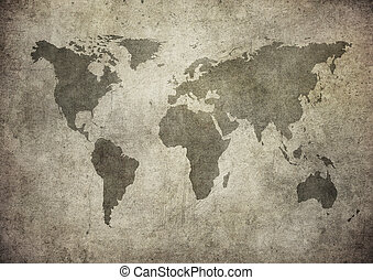 mapa, grunge, společnost
