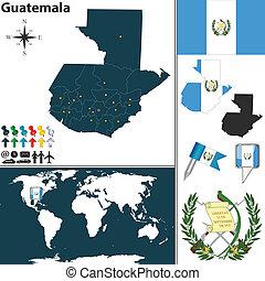 mapa, guatemala