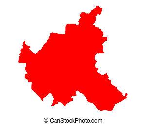 mapa, hamburgo