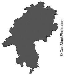 mapa,  -,  Hesse, alemania