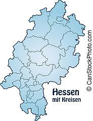 mapa, hesse