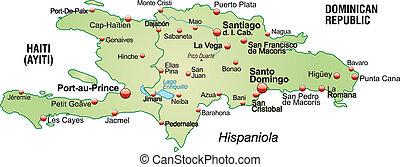 mapa, hispaniola