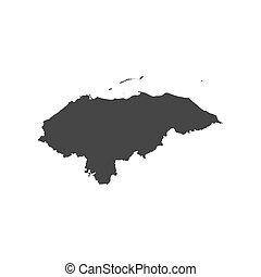 mapa,  honduras, silueta