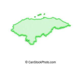 mapa,  honduras