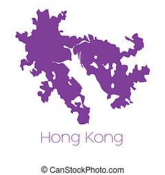 mapa, hong kong, país