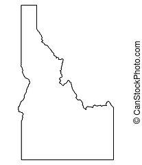mapa, idaho